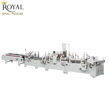 Pre-fold and Crash lock bottom Corrugated paper Folder gluer