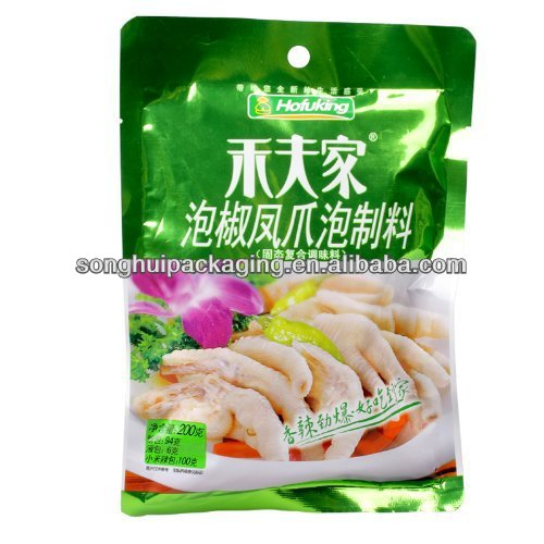 pickled chicken leg plastic bag / pickles packaging bag