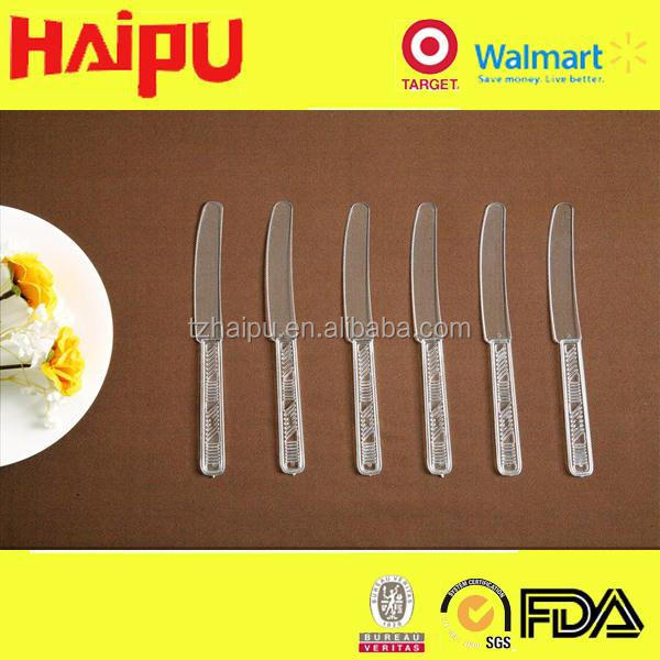 plastic clear crystal butter Chinese knife