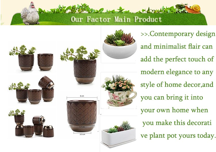 Fashion home Decorative small Flower Pot wholesale flower pots ceramic