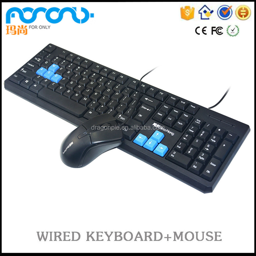Standard,Multimedia,Slim,Ergonomics Style and Wired USB Interface Type mouse keyboard combo factory