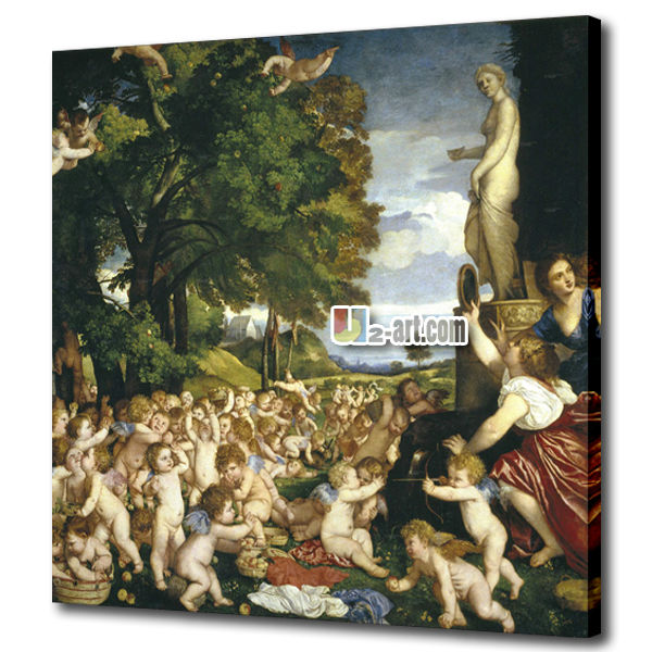 Oil painting factory canvas prints titian worship of venus home decor art