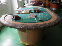 9 person professional electronic poker table used