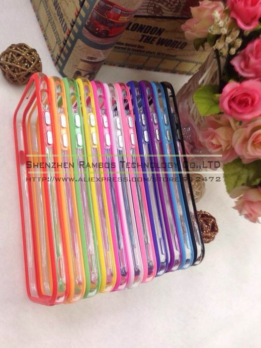 Clear Transparent Soft TPU Bumper Cover for Sony Xperia Z Z1 Z2 for Blackberry for iPhone 6 Plus