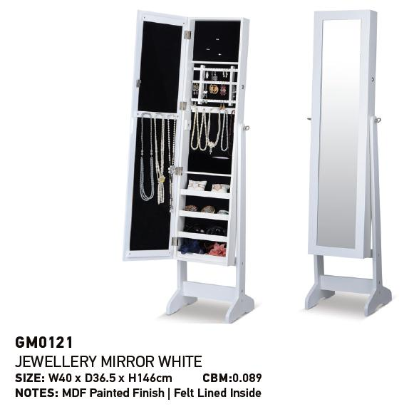 Chile Market E1 MDF Dressing jewelry mirror cabinet for home furniture