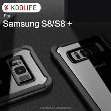 For Samsung S8 Case TPU and Hard PC Clear Back Cover For Samsung Galaxy S8 PLUS Cell Phone Case Koolife Shield
