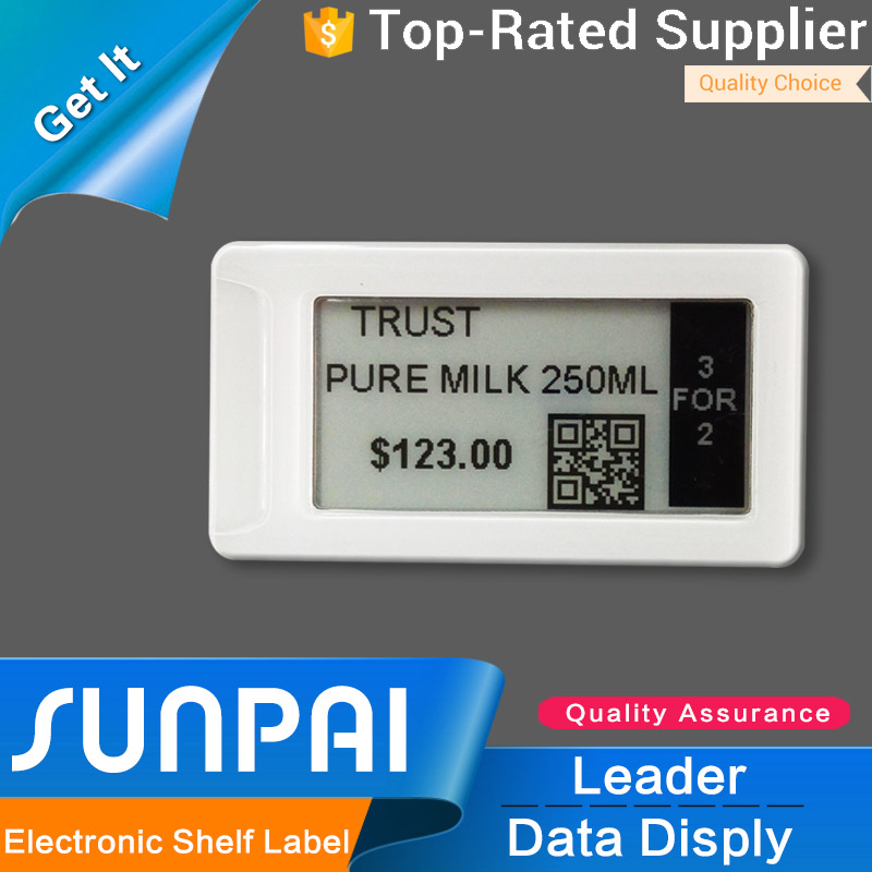 96.5% customer bought SUNPAI supermarket electronic shelf label e paper display