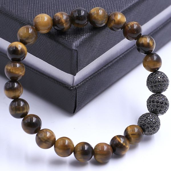 New Products 2016 Natural Gemstones Stone Mix Color Beads Male Female's Lover Bracelet