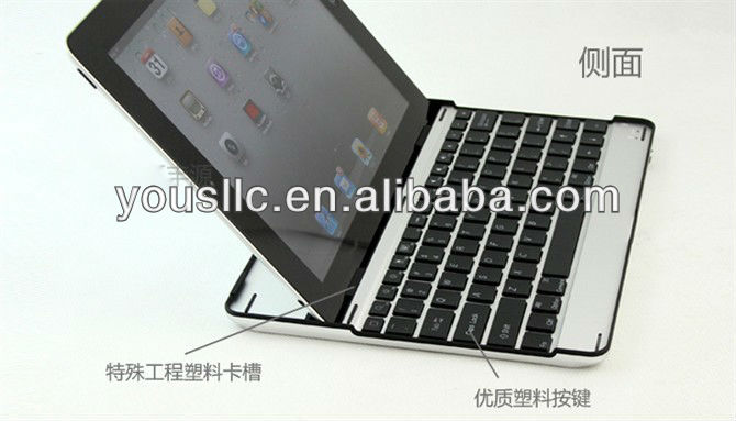 Bluetooth Wireless Slim Aluminum Keyboard Mobile Phone Case Cover Stand For iPad 2 3 4