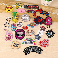 fashion mixed iron on embroidered appliques patches for clothing