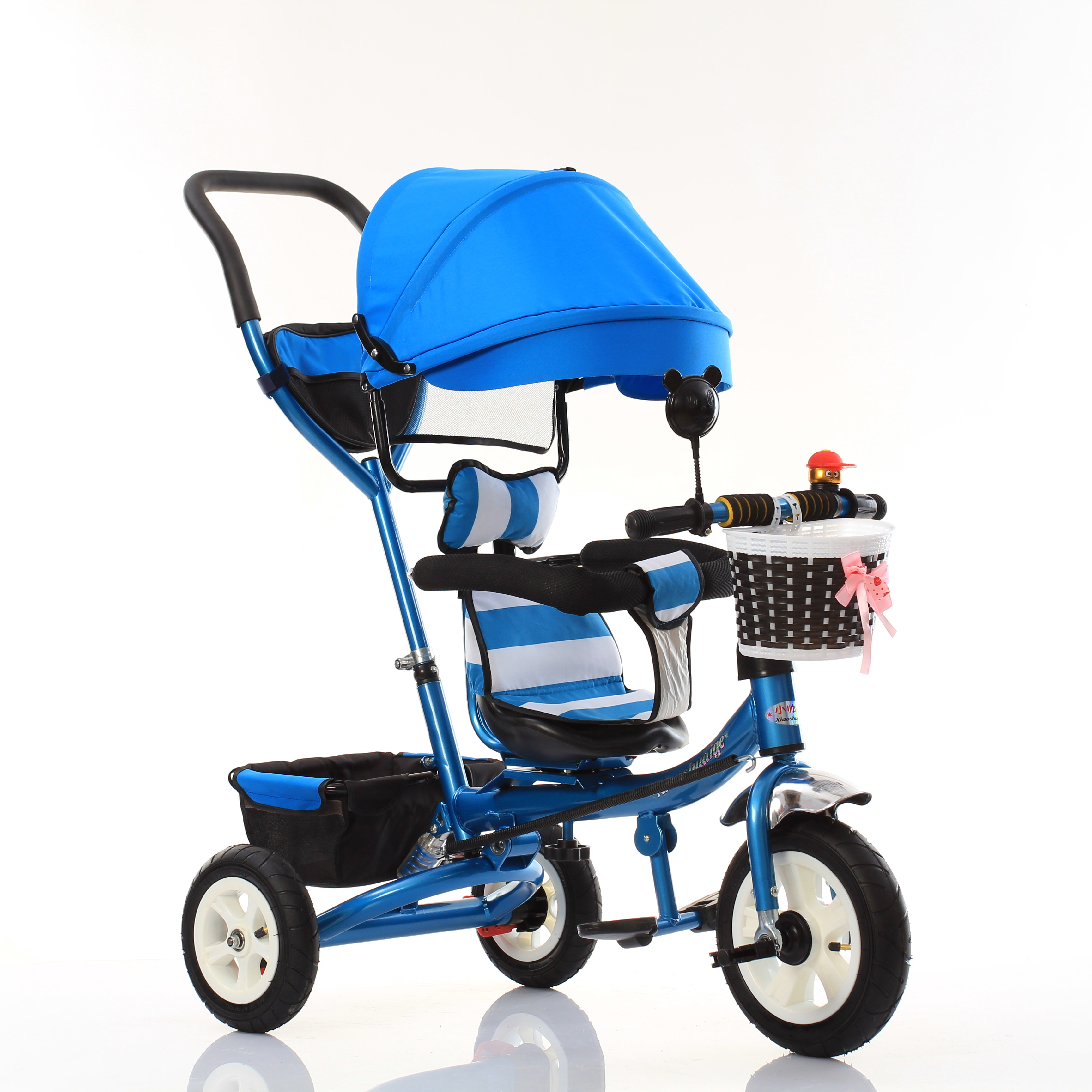 Double Baby walker <strong>Trike</strong>,Kids Tricycle Two Seat,Double Tricycles for Children with trailer