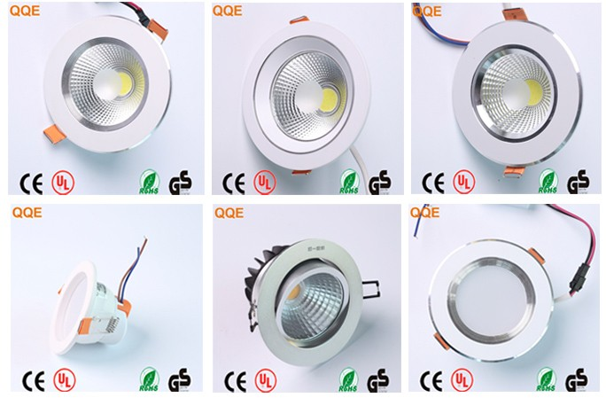 2018 new dimmable smd aluminum housing led recessed downlight