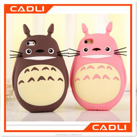2016 Totoro Galesaur 3D Cute Cartoon Soft Silicone OEM Case Cover for iphone 6 6S 6+ iphone6 plus 5 5s 5C C