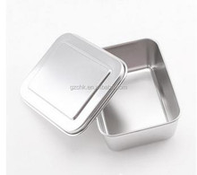 Luxury stainless steel fast food box/fast food container