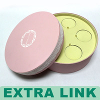 Alibaba China Supplier Trade Assurance Pink Round Jewelery Velvet Gift Box