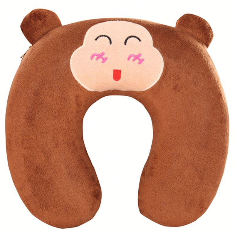Cartoon Design Neck Cuhion, Disposable Neck Pillow Cover, Animal Travel Pillow