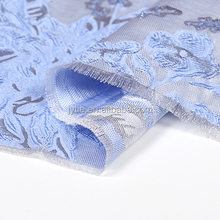 French design Jacaranda sides dyed jacquard brocade fabric stiff glossy fashion fabric