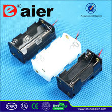 Daier 4AA battery holder box silicone wire
