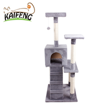 New Release Pretty Deluxe Wooden Cat Tree Cat Treats Bed House Pet Product