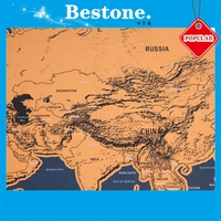 Various version popular travel map scratch off map high quality world scratch map