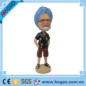 OEM Home Office Desk Decorative Resin Bobble Head Figurines