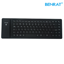 Wireless bluetooth silicon soft touch computer keyboard