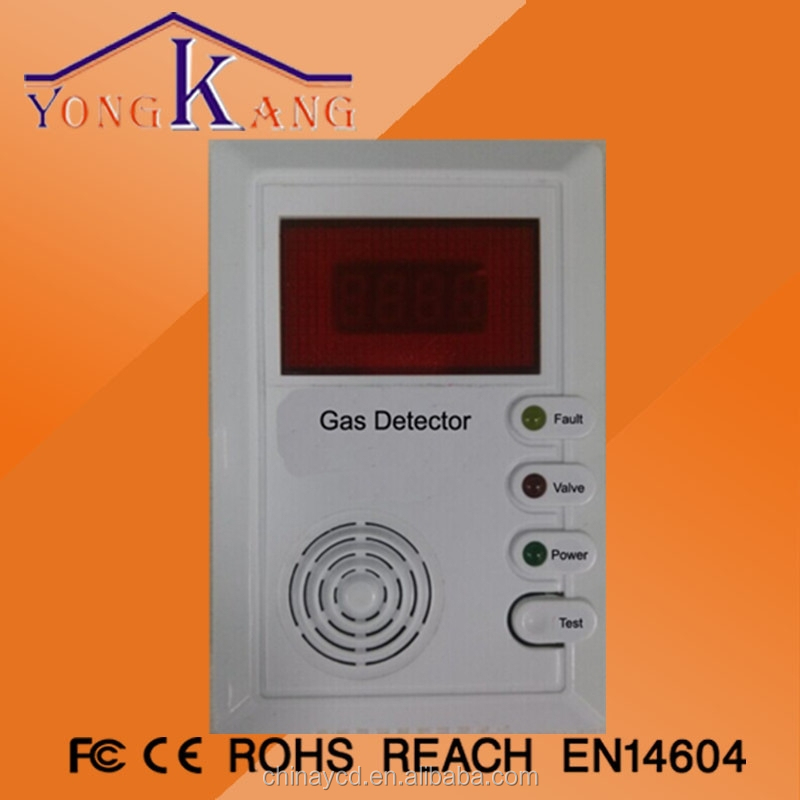 AC 85V---250V intelligent voice battery operated lpg gas detector
