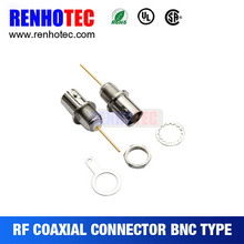 Cheap price and good quality din female jack bnc mount long pin pcb connector