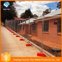 Australia style temporary wire mesh fence panel for feet/block