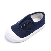 Size 21-30 Fashion Spring Autumn Children Casual Shoes For Girls Boys Child Sneakers Navy Blue Cheap Canvas Shoes
