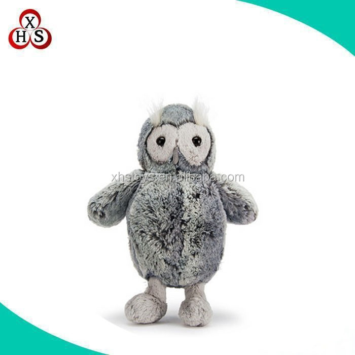 Factory supply stuffed animal and lifelike soft plush owl with big eye toys