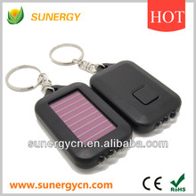 mobile portable mini keychain solar power flashlight