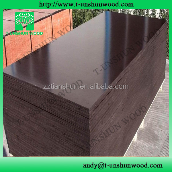 concrete formwork tiger film faced shuttering plywood