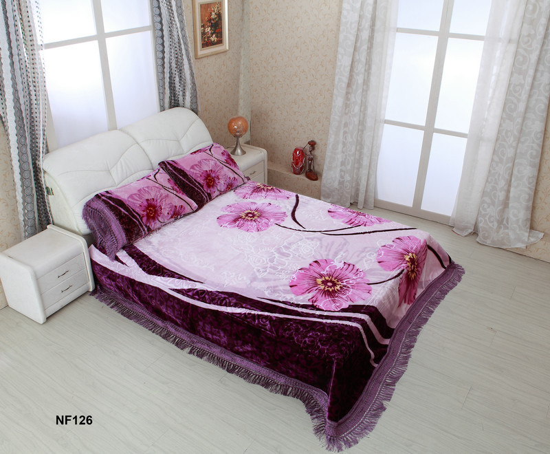 100% polyester home and hotel 3 pcs king size bed sets