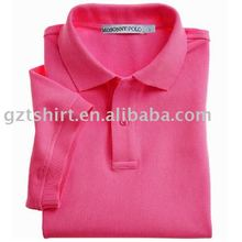 Man's solid color promotion polo t-shirt with logo