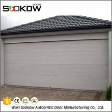 automatic roll up weather strip garage door with handles