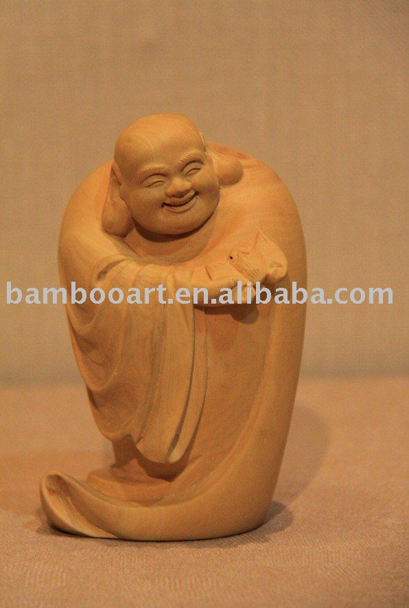 wood carving buddha