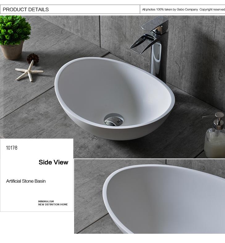 Diseñador creativo muebles de baño encimera lavabo de piedra ...