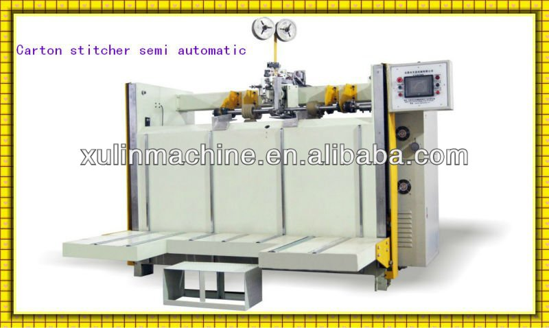 semi auto carton machine carton board stitcher machine