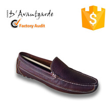 Dark Red Comfortable American Buffalo Leather Men Loafer Shoes