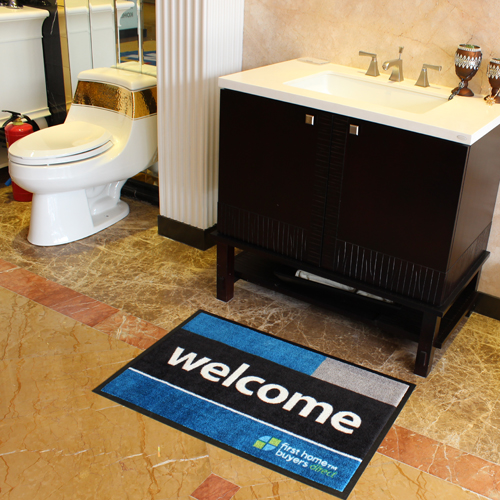 Comfortable Rubber Backed Bathroom Rug