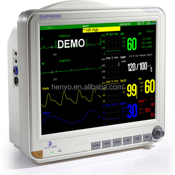 HMP041 medical touch screen ambulance patient monitor trolley