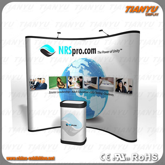 Advertising aluminum fabric pop up stand