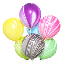 Birthday Party Event Decoration <strong>12</strong> Inch Black Helium Latex Agate Cloud Globos Marble Balloons