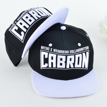 6-panle square flat brim embroidery custom snapback capand hat
