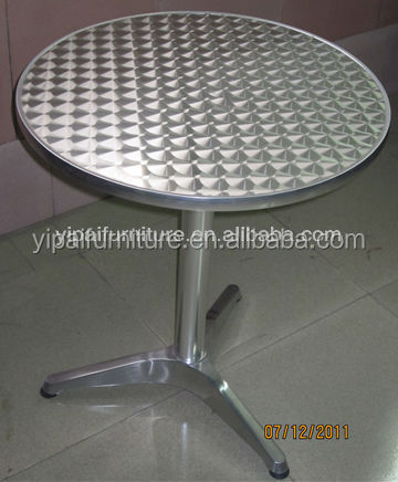 Foshan cheap used aluminum bistro bar tables (YT1)