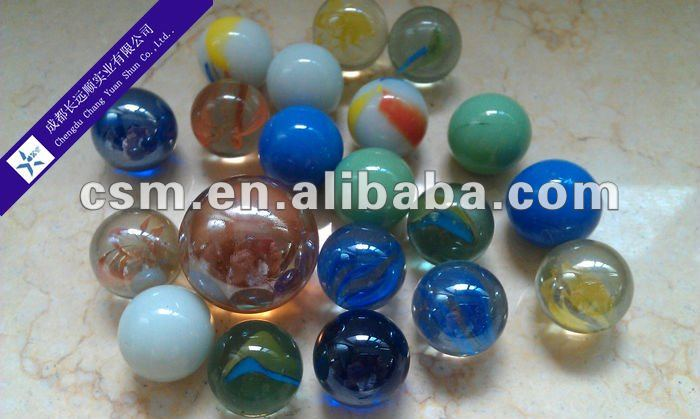 Children Playing Shiny Glass Marble Balls
