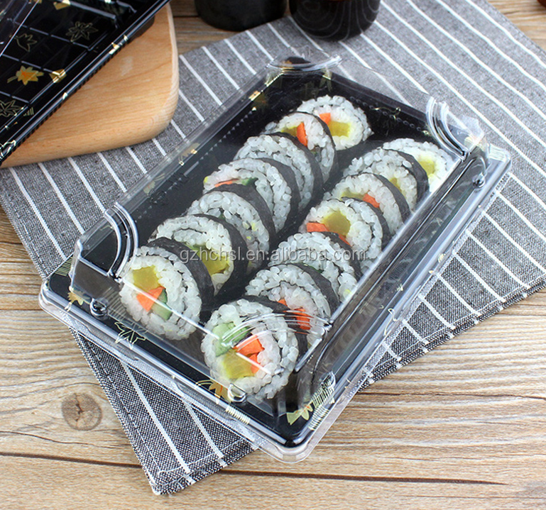 Disposable Sushi Containers Sushi Plates Sushi Tray with lids