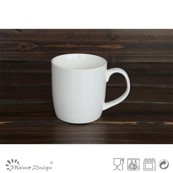 Cheap Round Ceramic White Porcelain Coffee Mugs Plain