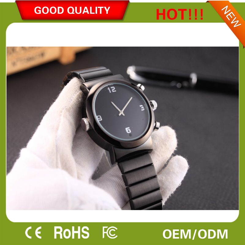 Wrist watch with cctv spy camera watch full hd HD9712 illumination photosensitive chip with golden 1080p